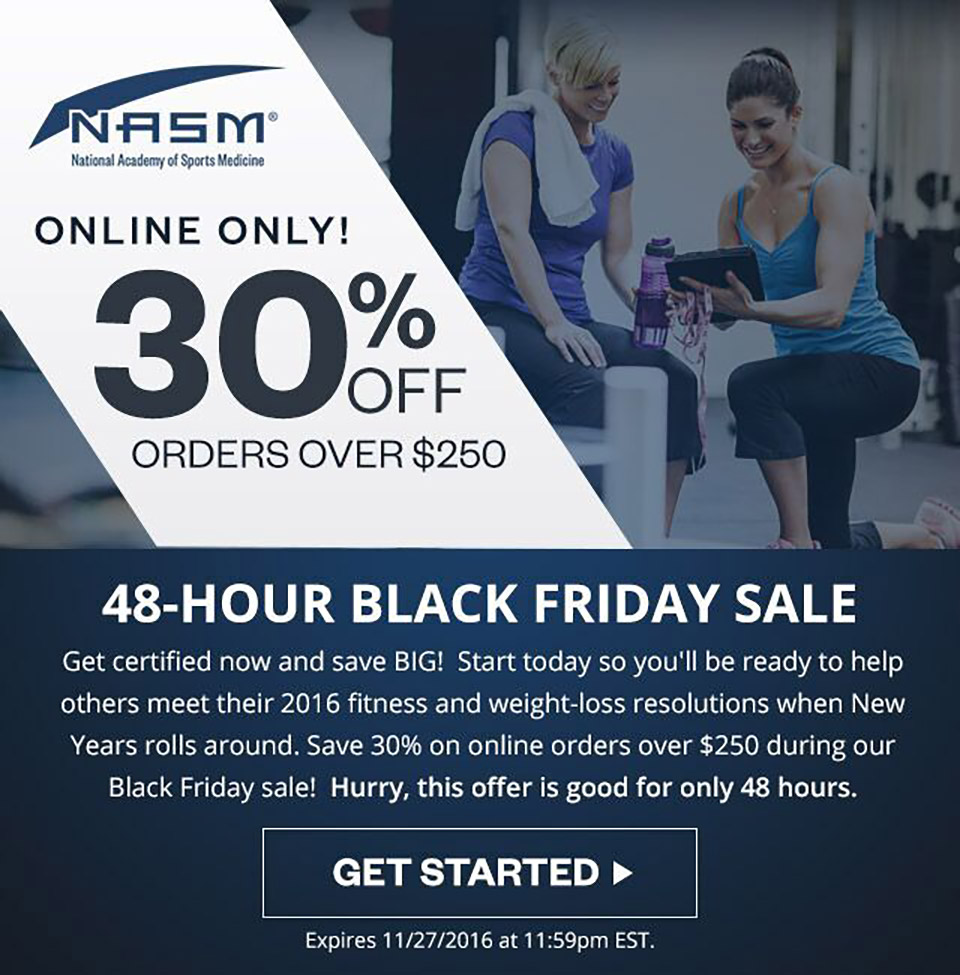 Black Friday - NASM